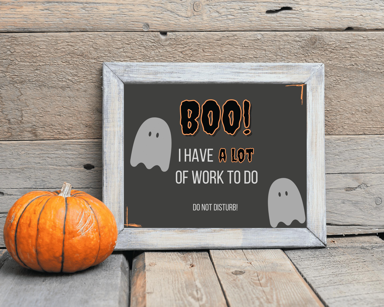 Boo! Do Not Disturb Door Sign