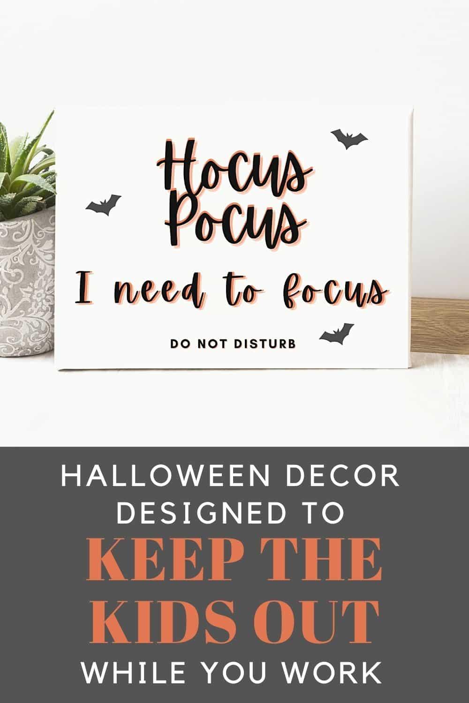 Halloween Office Door Sign
