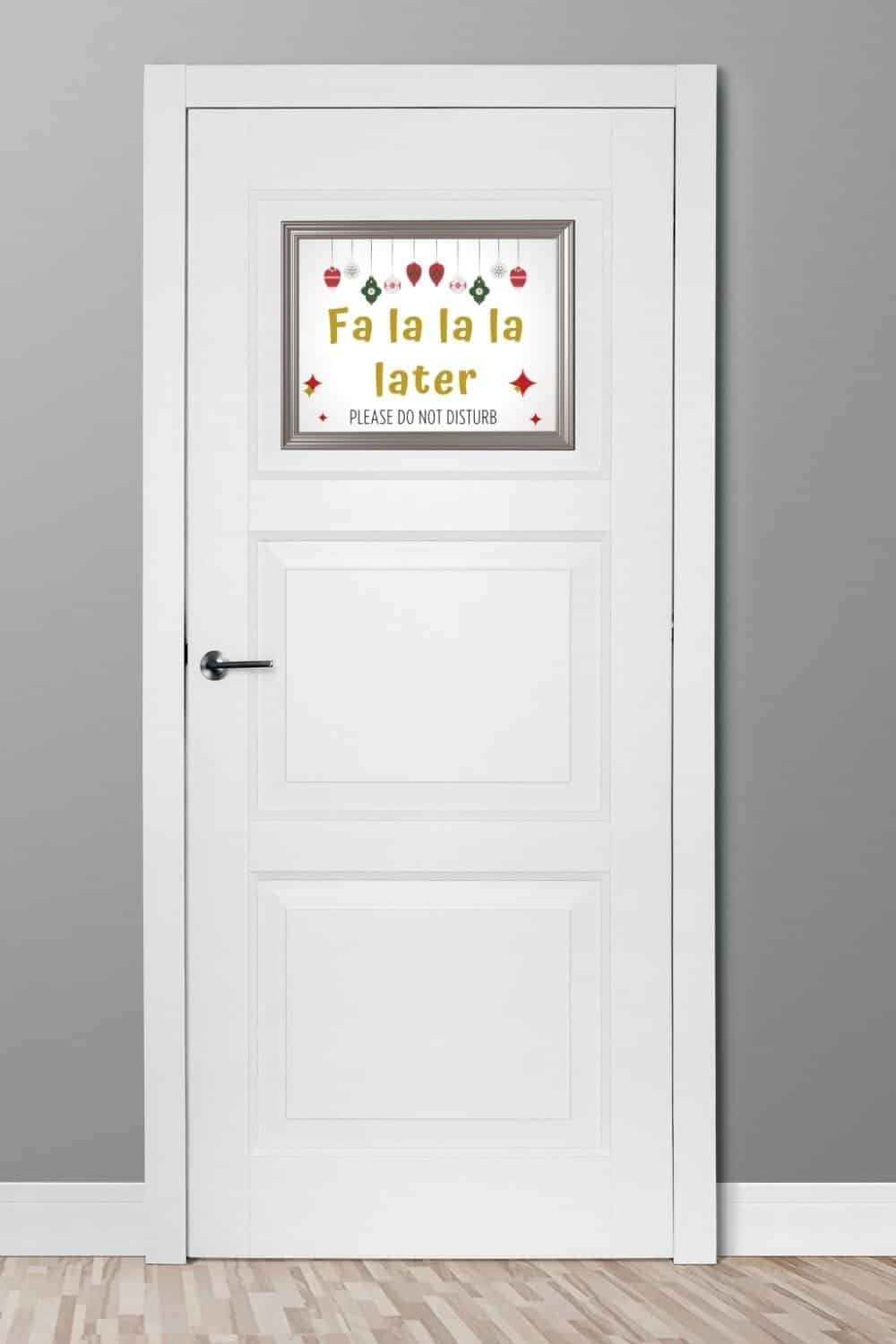 Christmas Door Sign