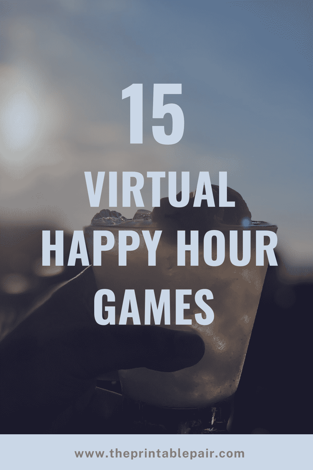 15 Virtual Happy Hour Games Graphic
