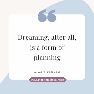 Dreaming, after all, is a form of planning