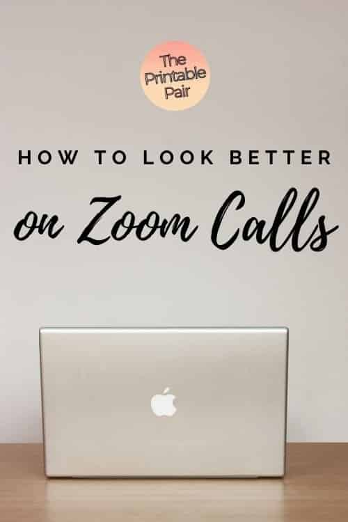 """Computer on desk with """"How to look better on Zoom calls"""""""